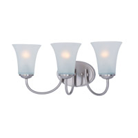 Maxim Lighting Logan 3 Light Bath Vanity in Satin Nickel 10053FTSN
