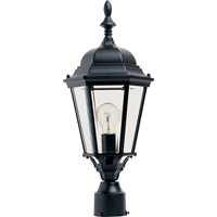 Maxim Lighting Westlake 1 Light Outdoor Pole/Post Lantern in Black 1005BK