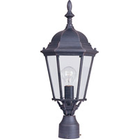 Maxim Lighting Westlake 1 Light Outdoor Pole/Post Lantern in Rust Patina 1005RP