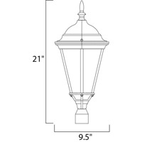 Maxim Lighting Westlake 1 Light Outdoor Pole/Post Lantern in Empire Bronze 1005EB alternative photo thumbnail