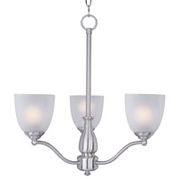 Maxim 10064FTSN Stefan 3 Light 21 inch Satin Nickel Single-Tier Chandelier Ceiling Light