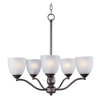 Stefan 5 Light 25 inch Oil Rubbed Bronze Single-Tier Chandelier Ceiling Light