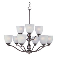 Maxim 10066FTOI Stefan 9 Light 30 inch Oil Rubbed Bronze Multi-Tier Chandelier Ceiling Light