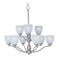 Maxim Lighting Stefan 9 Light Multi-Tier Chandelier in Satin Nickel 10066FTSN