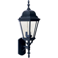Maxim 1006BK Westlake 3 Light 28 inch Black Outdoor Wall Mount