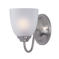 Maxim Lighting Stefan 1 Light Bath Vanity in Satin Nickel 10071FTSN