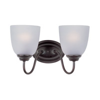 Maxim Lighting Stefan 2 Light Bath Vanity in Oil Rubbed Bronze 10072FTOI