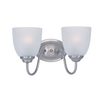 Maxim Lighting Stefan 2 Light Bath Vanity in Satin Nickel 10072FTSN