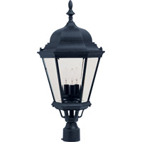 Maxim 1007BK Westlake 3 Light 28 inch Black Outdoor Pole/Post Lantern in Incandescent