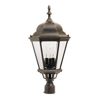 Maxim Lighting Westlake 3 Light Outdoor Pole/Post Lantern in Rust Patina 1007RP
