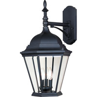 Maxim 1008BK Westlake 3 Light 22 inch Black Outdoor Wall Mount in Incandescent