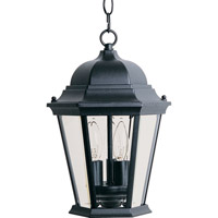 Maxim 1009BK Westlake 3 Light 9 inch Black Outdoor Hanging Lantern in Incandescent