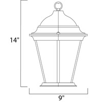 Maxim Lighting Westlake 3 Light Outdoor Hanging Lantern in Black 1009BK alternative photo thumbnail