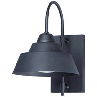 Maxim 10104BK Shoreline 1 Light 15 inch Black Outdoor Wall Mount