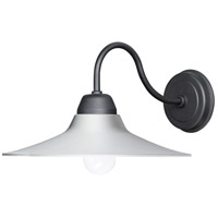 Maxim 10114WTBK Dockside 1 Light 9 inch White and Black Outdoor Wall Mount