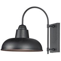Maxim 10118BK Industrial 1 Light 16 inch Black Outdoor Wall Mount