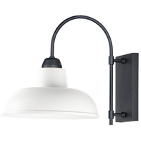 Maxim 10118WTBK Industrial 1 Light 16 inch White and Black Outdoor Wall Mount
