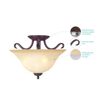 Maxim Lighting Basix 2 Light Semi Flush Mount in Oil Rubbed Bronze 10120WSOI alternative photo thumbnail