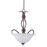 Basix 3 Light 17 inch Oil Rubbed Bronze Pendant Ceiling Light in Ice