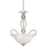 Basix 3 Light 17 inch Satin Nickel Pendant Ceiling Light in Ice