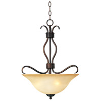 Maxim 10121WSOI Basix 3 Light 17 inch Oil Rubbed Bronze Pendant Ceiling Light in Wilshire photo thumbnail