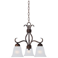 Maxim 10122FTOI Basix 3 Light 19 inch Oil Rubbed Bronze Mini Chandelier Ceiling Light in Frosted