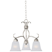 Maxim 10122FTSN Basix 3 Light 19 inch Satin Nickel Mini Chandelier Ceiling Light in Frosted