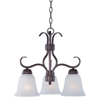 Maxim 10122ICOI Basix 3 Light 19 inch Oil Rubbed Bronze Chandelier Ceiling Light in Ice