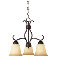 Basix 3 Light 19 inch Oil Rubbed Bronze Mini Chandelier Ceiling Light in Wilshire