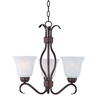 Basix 3 Light 19 inch Oil Rubbed Bronze Chandelier Ceiling Light in Ice