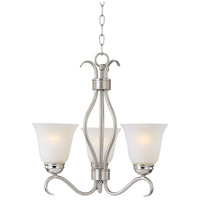 Maxim 10123ICSN Basix 3 Light 19 inch Satin Nickel Mini Chandelier Ceiling Light in Ice