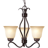 Maxim 10123WSOI Basix 3 Light 19 inch Oil Rubbed Bronze Mini Chandelier Ceiling Light in Wilshire photo thumbnail