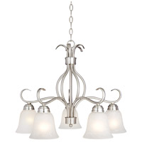 Maxim Lighting Basix 5 Light Down Light Chandelier in Satin Nickel 10124ICSN