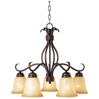 Basix 5 Light 25 inch Oil Rubbed Bronze Down Light Chandelier Ceiling Light in Wilshire