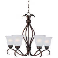 Maxim 10125FTOI Basix 5 Light 26 inch Oil Rubbed Bronze Single-Tier Chandelier Ceiling Light in Frosted