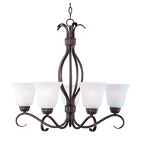 Basix 5 Light 26 inch Oil Rubbed Bronze Chandelier Ceiling Light in Ice