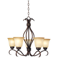 Basix 5 Light 26 inch Oil Rubbed Bronze Single Tier Chandelier Ceiling Light in Wilshire