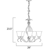 Maxim Lighting Basix 5 Light Single Tier Chandelier in Satin Nickel 10125ICSN alternative photo thumbnail