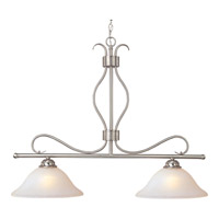 Basix 2 Light 36 inch Satin Nickel Island Pendant Ceiling Light