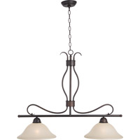 Maxim 10126WSOI Basix 2 Light 36 inch Oil Rubbed Bronze Island Pendant Ceiling Light