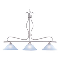 Maxim 10127ICSN Basix 3 Light 48 inch Satin Nickel Island Pendant Ceiling Light