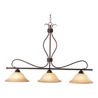 Basix 3 Light 48 inch Oil Rubbed Bronze Island Pendant Ceiling Light