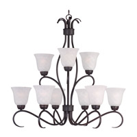 Basix 9 Light 32 inch Oil Rubbed Bronze Chandelier Ceiling Light in Ice