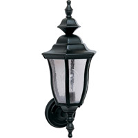 Maxim 1012BK Madrona 1 Light 18 inch Black Outdoor Wall Mount