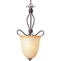 Maxim 10130WSOI Basix 2 Light 13 inch Oil Rubbed Bronze Pendant Ceiling Light