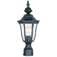 Maxim Lighting Madrona 1 Light Outdoor Pole/Post Lantern in Black 1013BK