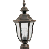 Madrona 1 Light 17 inch Rust Patina Outdoor Pole/Post Lantern