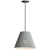 Maxim 10145GYBK Woven 1 Light 15 inch Gray and Black Single Pendant Ceiling Light in Cement