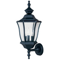 Maxim Lighting Madrona 3 Light Outdoor Wall Mount in Black 1014BK