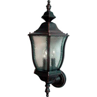 Maxim Lighting Madrona 3 Light Outdoor Wall Mount in Rust Patina 1014RP
